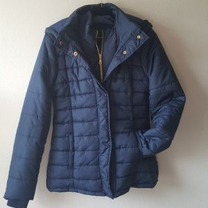 Rampage Navy puffer coat